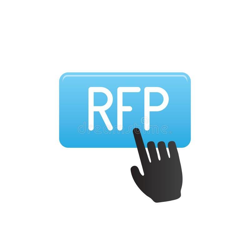 Значок RFP - концепция или идея запроса предложений бесплатная иллюстрация