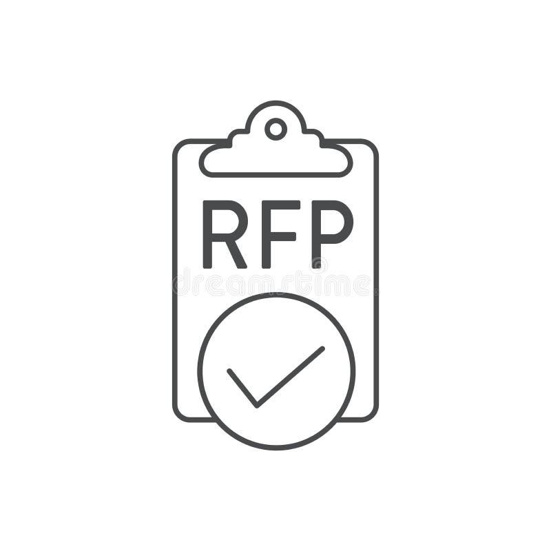 Значок RFP - концепция или идея запроса предложений иллюстрация вектора