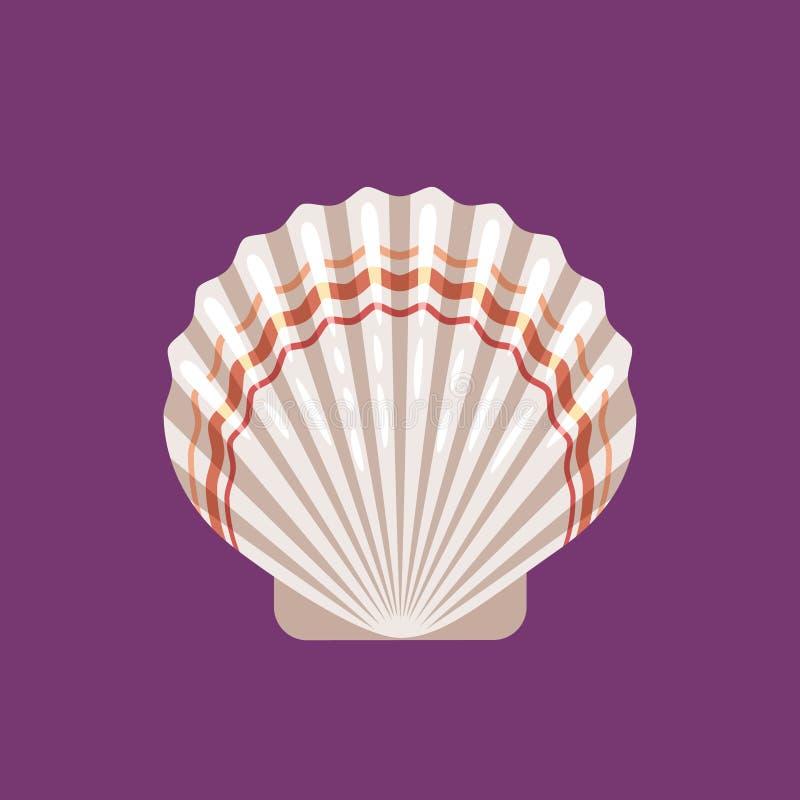 Значок scallop Seashell плоский бесплатная иллюстрация