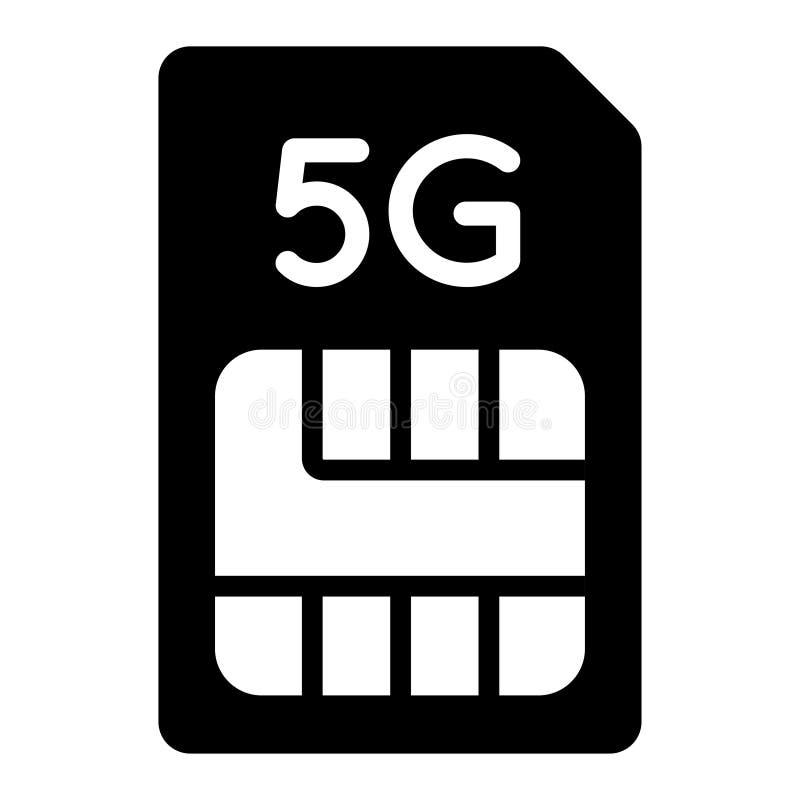 значок SIM-карты 5g, информация для обслуживания иллюстрация штока