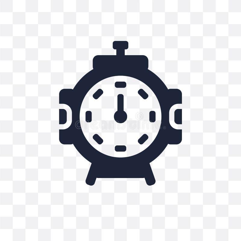 Значок Stopclock прозрачный Дизайн символа Stopclock от мам времени бесплатная иллюстрация