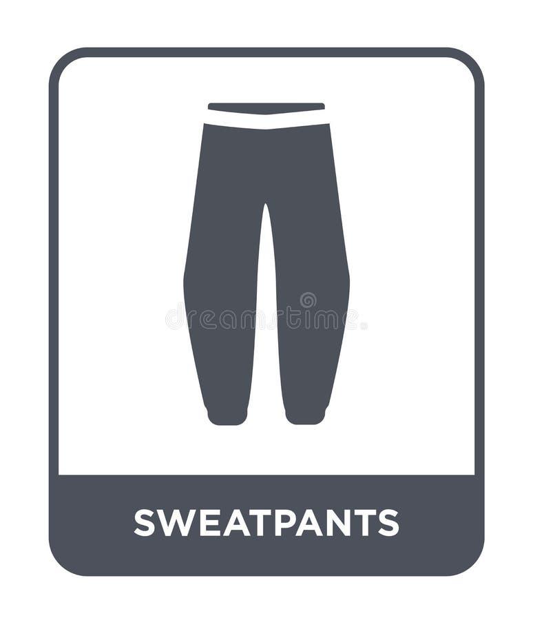 значок sweatpants в ультрамодном стиле дизайна значок sweatpants изолированный на белой предпосылке значок вектора sweatpants про бесплатная иллюстрация