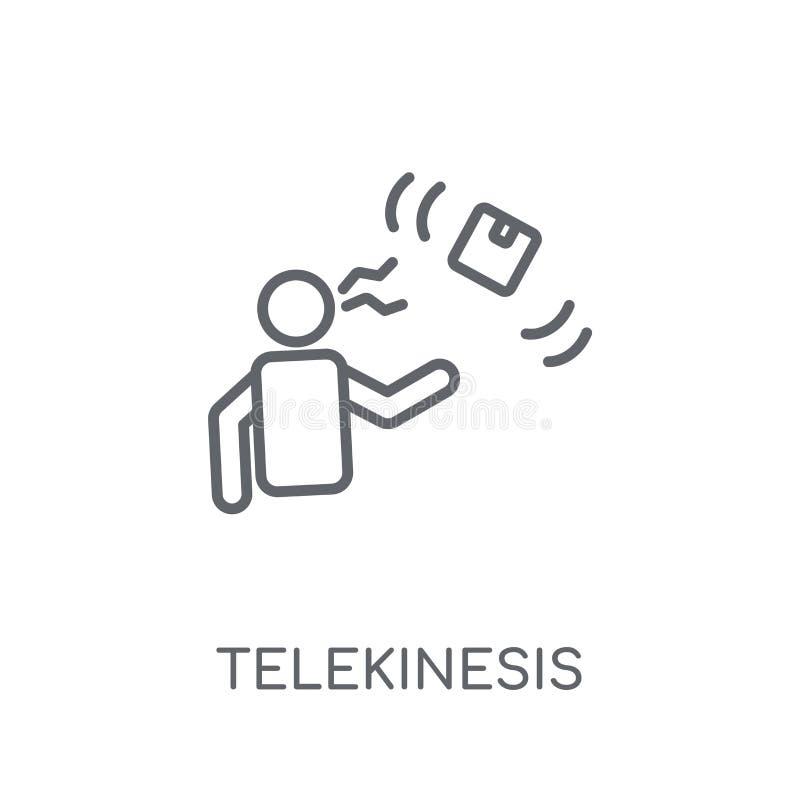 Значок Telekinesis линейный Современная концепция логотипа Telekinesis плана иллюстрация штока