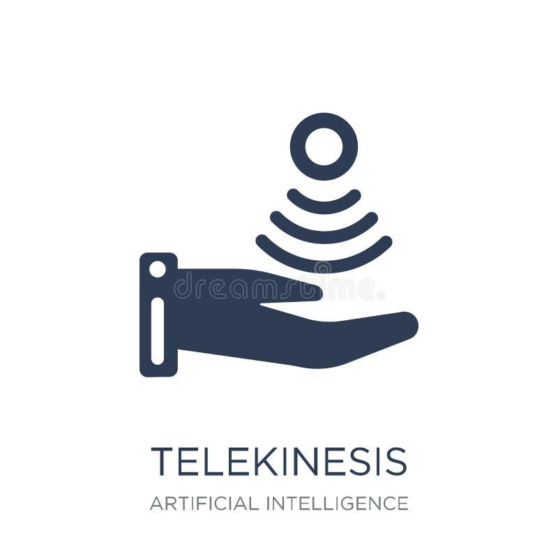 Значок Telekinesis Ультрамодный плоский значок Telekinesis вектора на белом b бесплатная иллюстрация