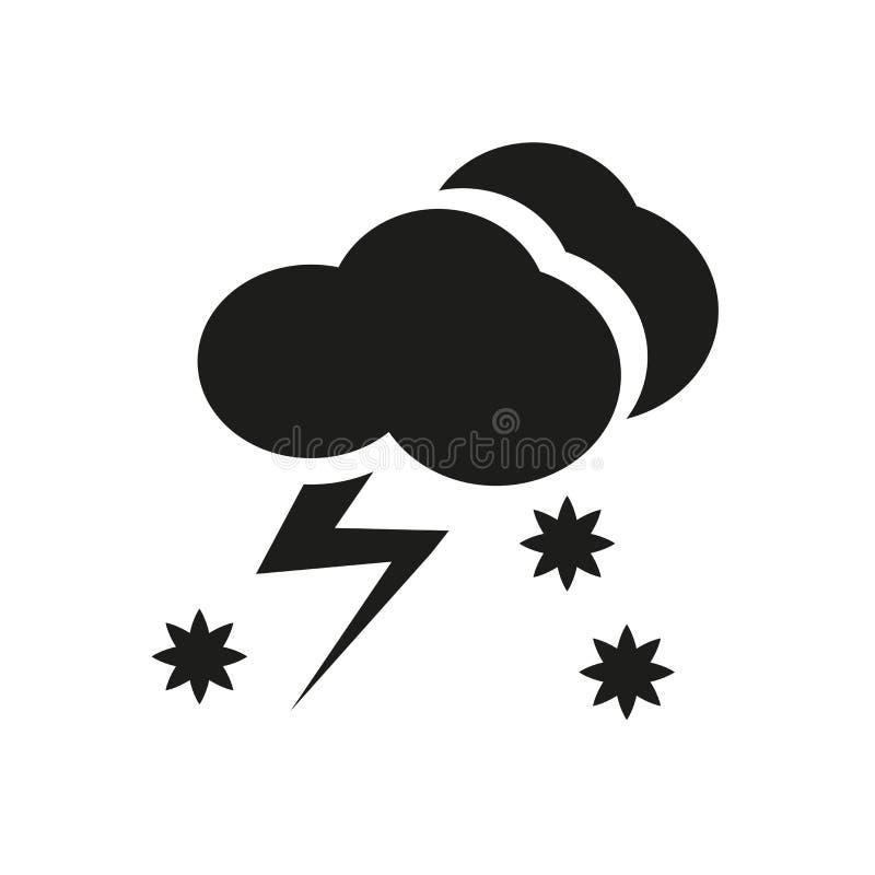 Значок Thundersnow Ультрамодная концепция логотипа Thundersnow на белом backg иллюстрация штока