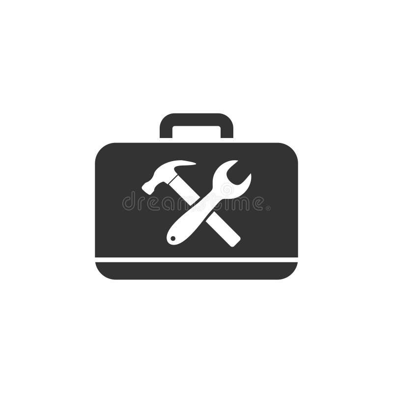 Значок Toolbox плоский иллюстрация вектора