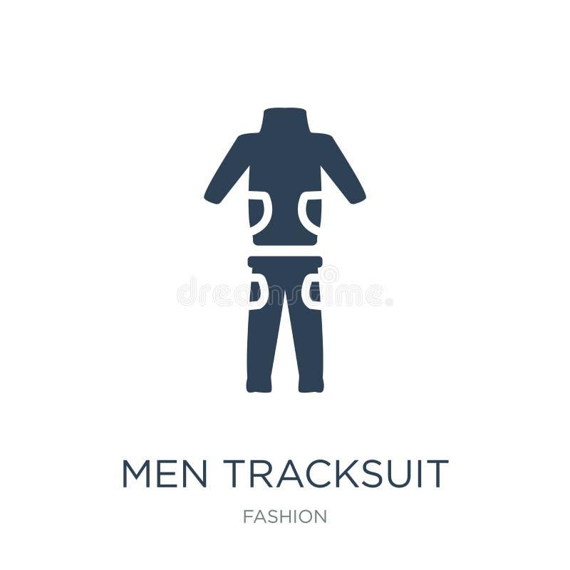 значок tracksuit людей в ультрамодном стиле дизайна значок tracksuit людей изолированный на белой предпосылке значок вектора trac бесплатная иллюстрация
