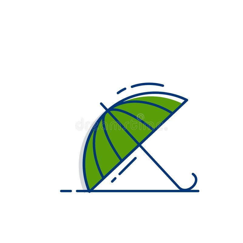 Значок Umbrela - со стилем заполненным планом бесплатная иллюстрация