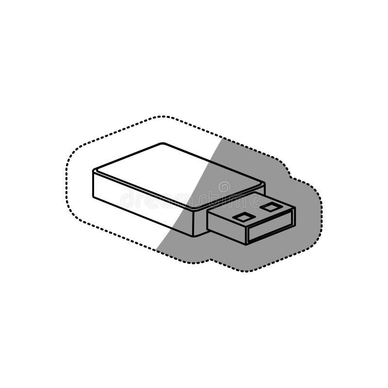 Значок Usb Тема оборудования и оборудования технологии соединения Изолированный дизайн иллюстрация вектора