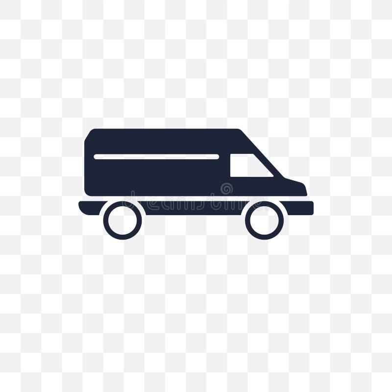 Значок Van прозрачный Дизайн Van символа от coll транспорта бесплатная иллюстрация