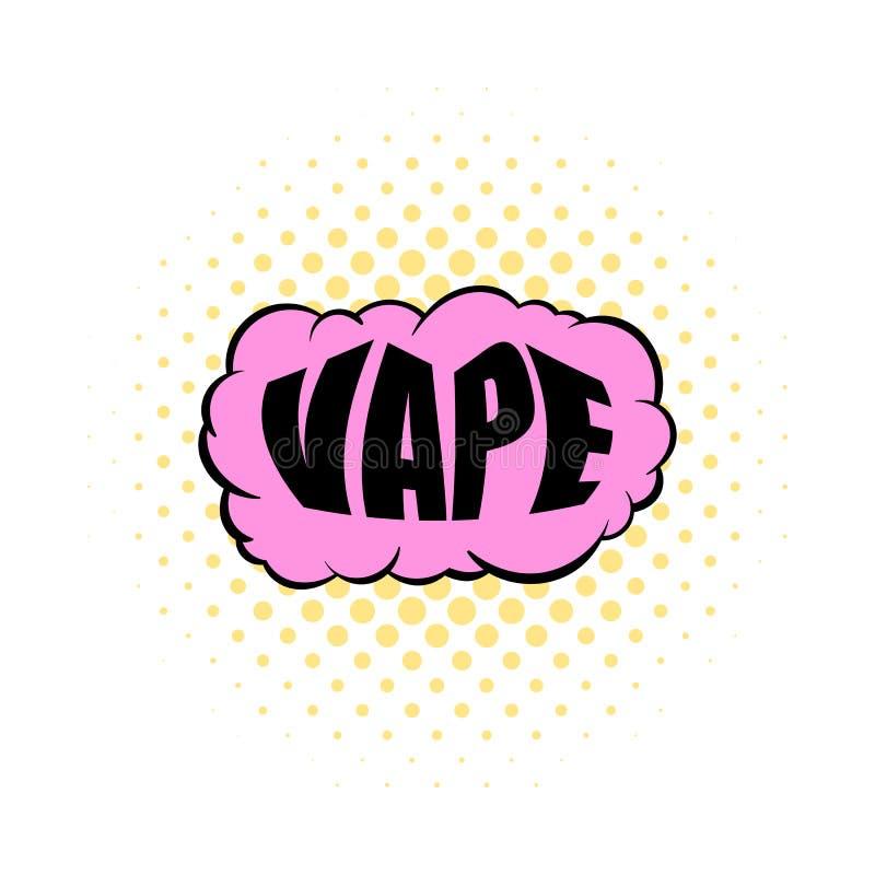 Значок vape дыма, стиль комиксов иллюстрация штока