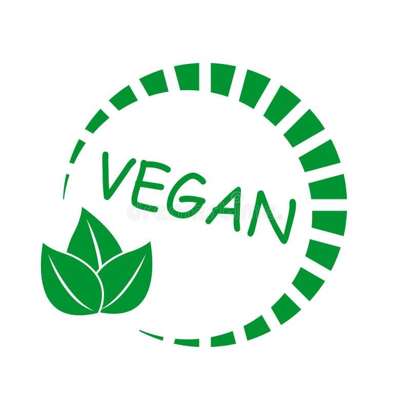 Значок Vegan Натуральный продучт Символ вегетарианской еды органический продукт иллюстрация вектора