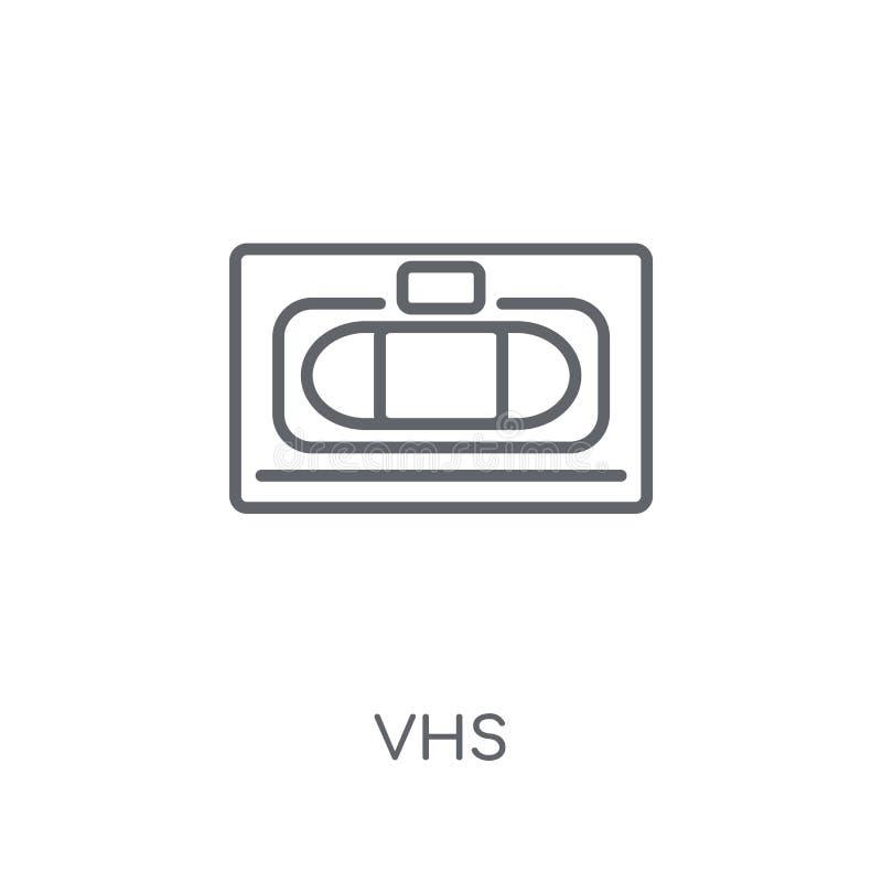 Значок Vhs линейный Современная концепция логотипа Vhs плана на белом backgr иллюстрация штока