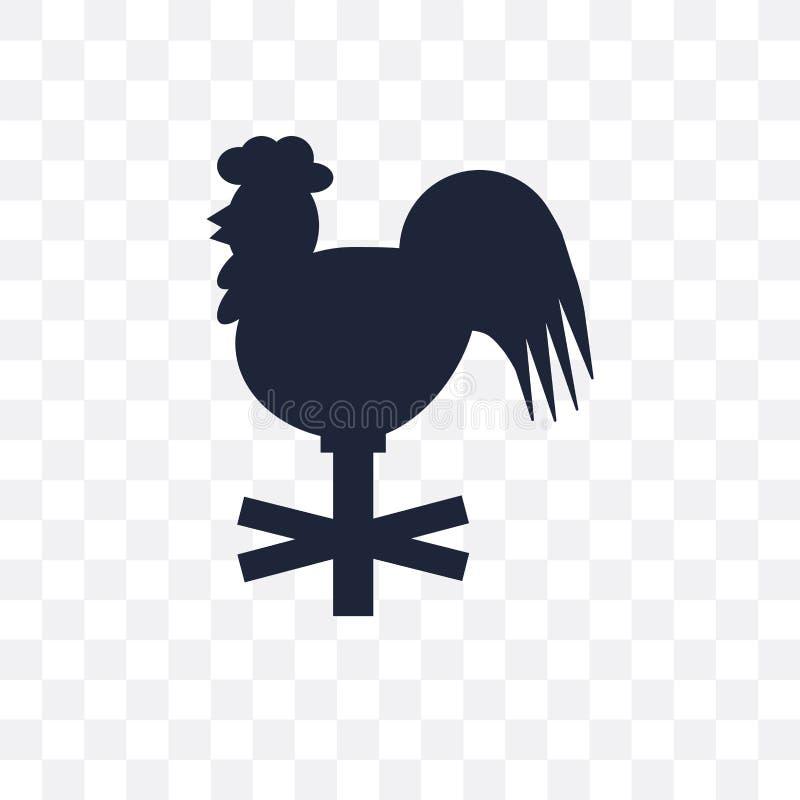 Значок Weathercock прозрачный Дизайн символа Weathercock от Wea бесплатная иллюстрация