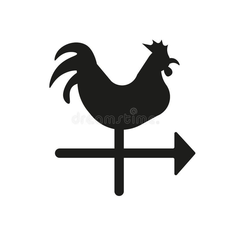 Значок Weathercock Ультрамодная концепция логотипа Weathercock на белом backg иллюстрация штока