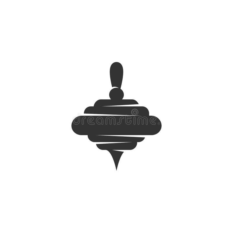 Значок Whirligig Логотип вектора на белой предпосылке бесплатная иллюстрация