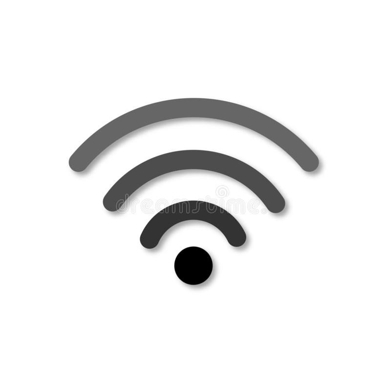 Значок Wi-Fi Изолированный значок вектора wifi 3d Бумажный отрезанный стиль искусства Беспроводной символ доступа в интернет иллюстрация вектора