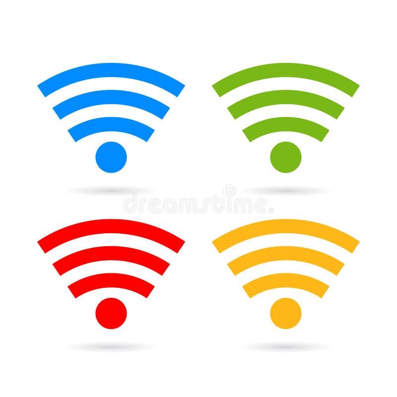 Значок wifi интернета иллюстрация штока