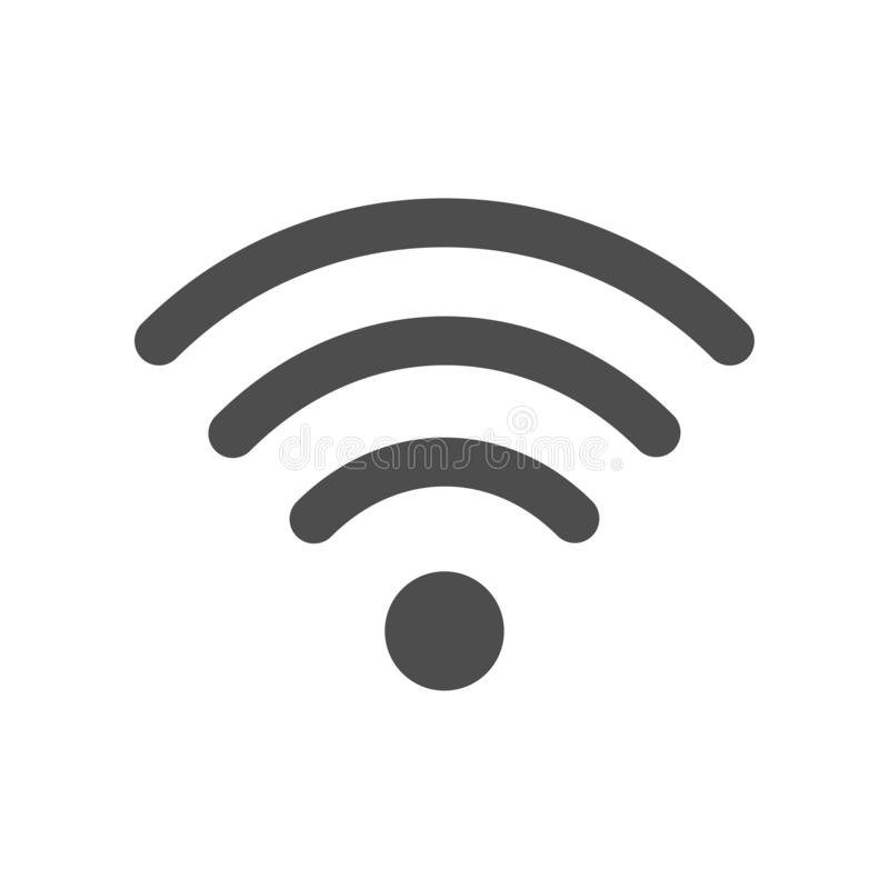Значок wifi стандарта интернета на белой предпосылке бесплатная иллюстрация