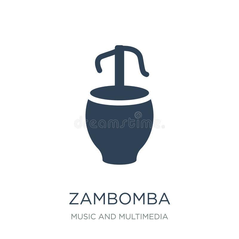 значок zambomba в ультрамодном стиле дизайна значок zambomba изолированный на белой предпосылке квартира значка вектора zambomba  бесплатная иллюстрация