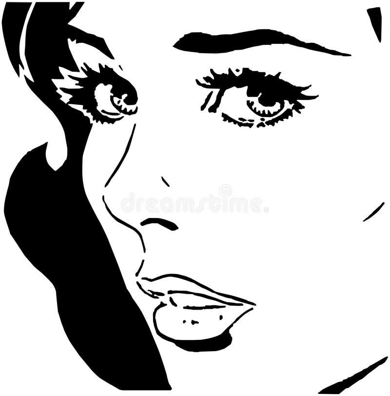 знойная женщина иллюстрация штока