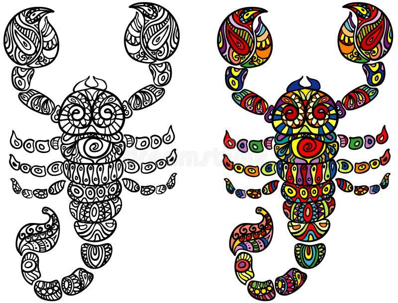 зодиак знака скорпиона иллюстрация вектора