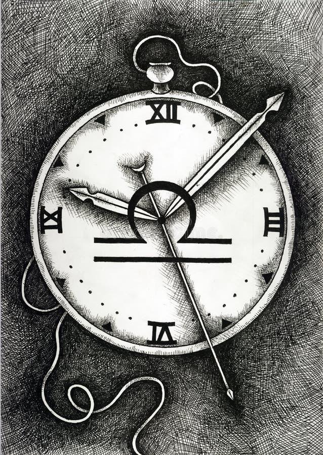 Зодиак подписывает Libra Рука нарисованная с щеткой чернил также вектор иллюстрации притяжки corel стоковое изображение rf