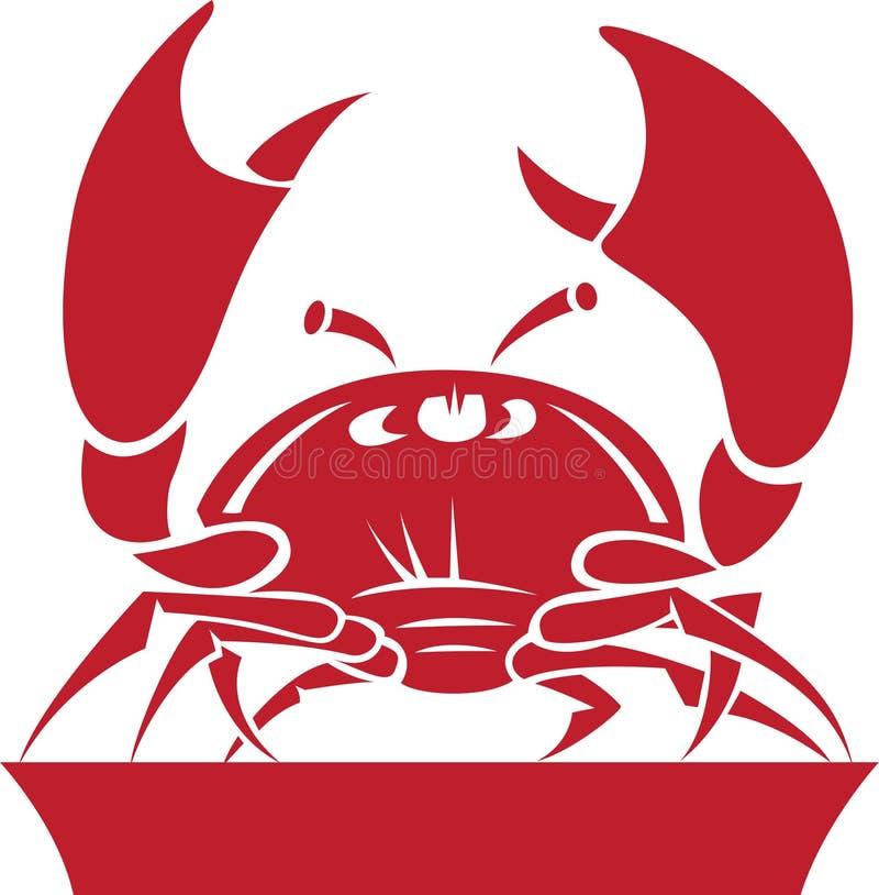 зодиак символа horoscope рака иллюстрация вектора
