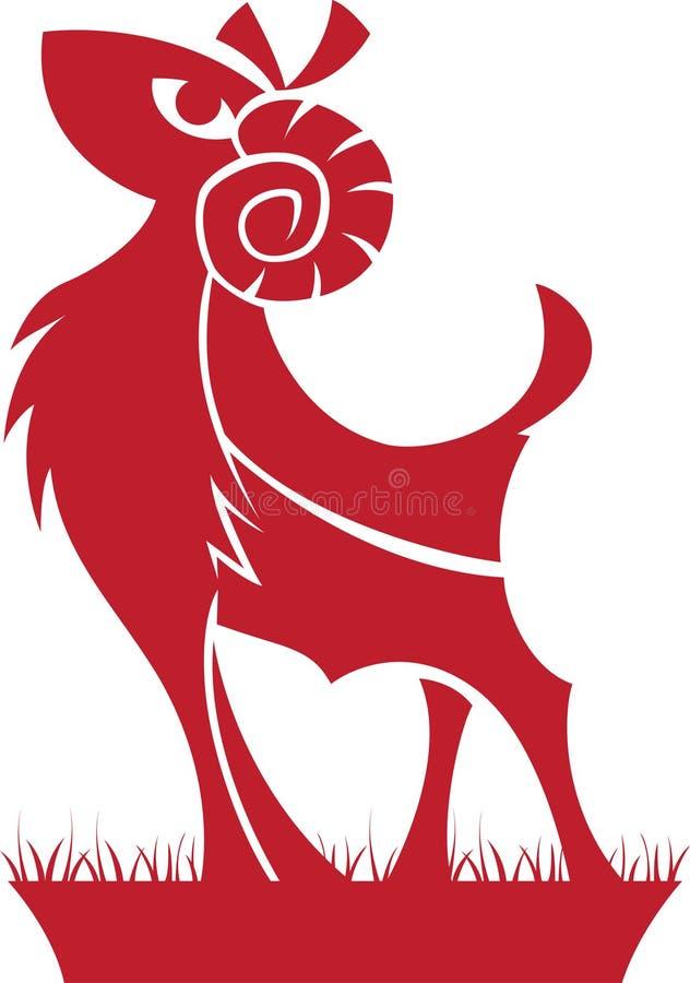 зодиак символа horoscope aries иллюстрация вектора