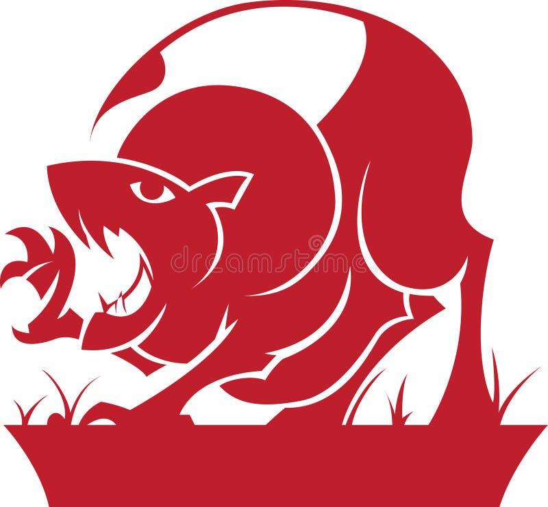 зодиак символа leo horoscope иллюстрация штока
