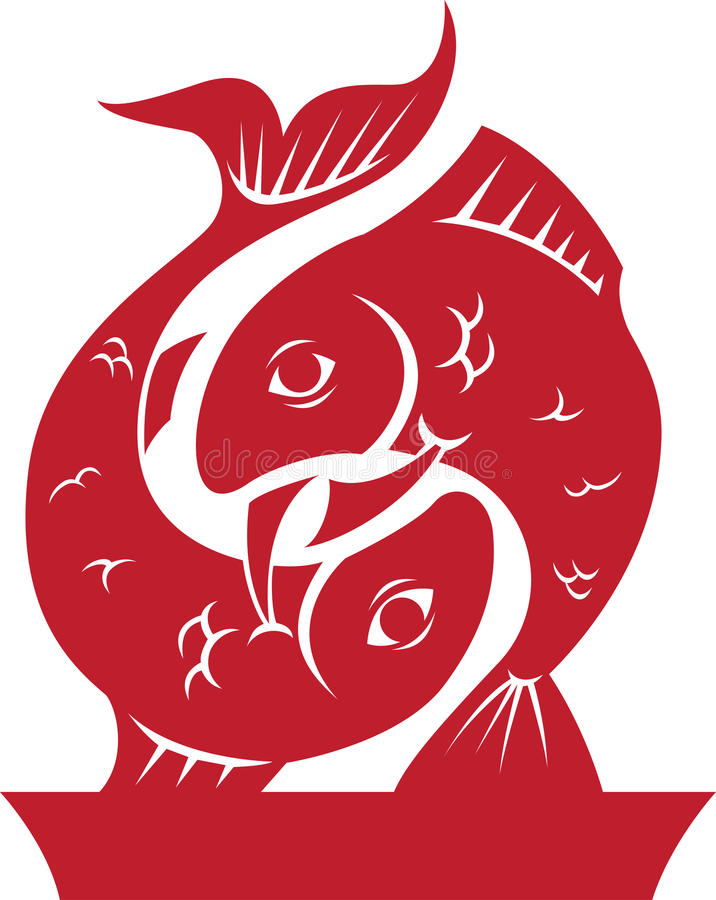 зодиак символа pisces horoscope иллюстрация штока