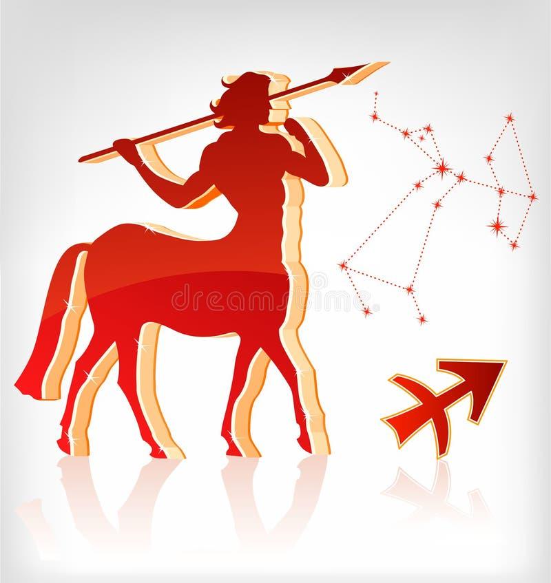 зодиак стрелка иконы horoscope астрологии иллюстрация вектора