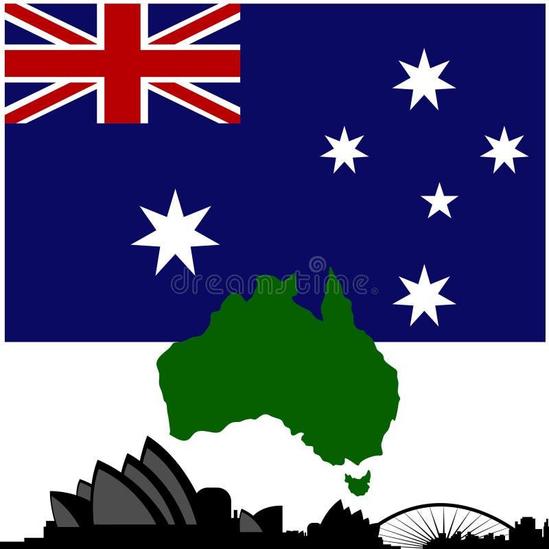 Зодчество Австралия иллюстрация штока