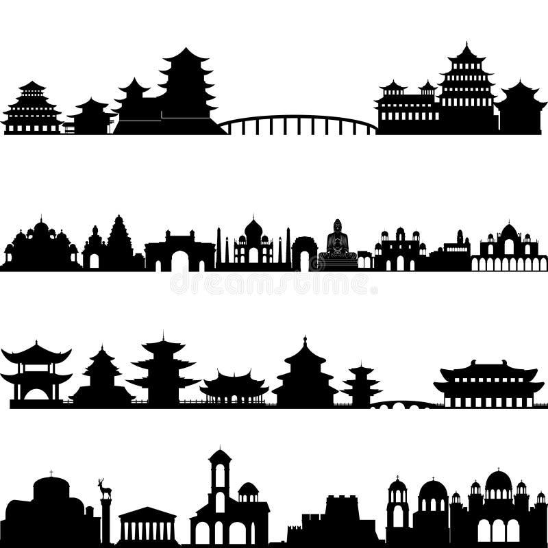 Зодчество Азия иллюстрация штока