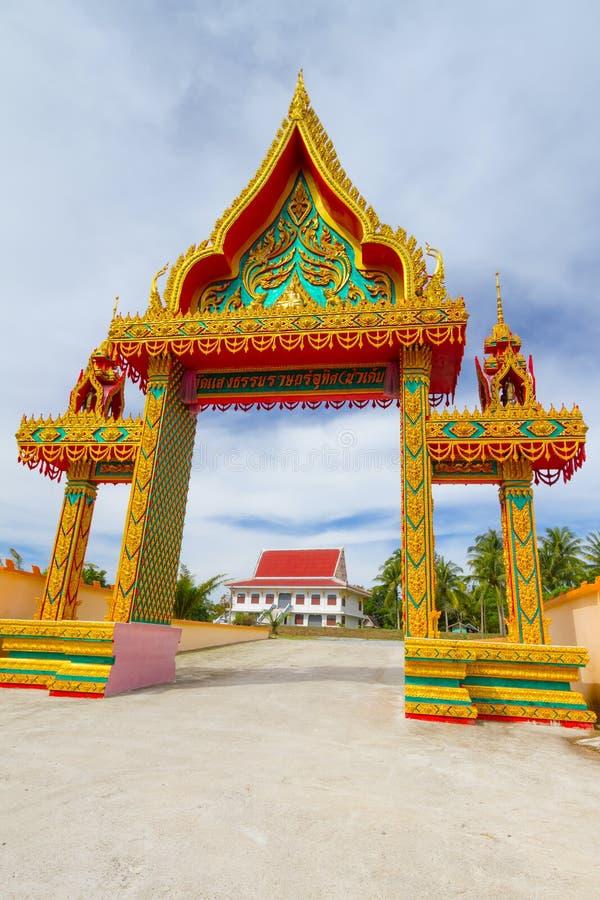 Зодчество виска будизма стоковое изображение