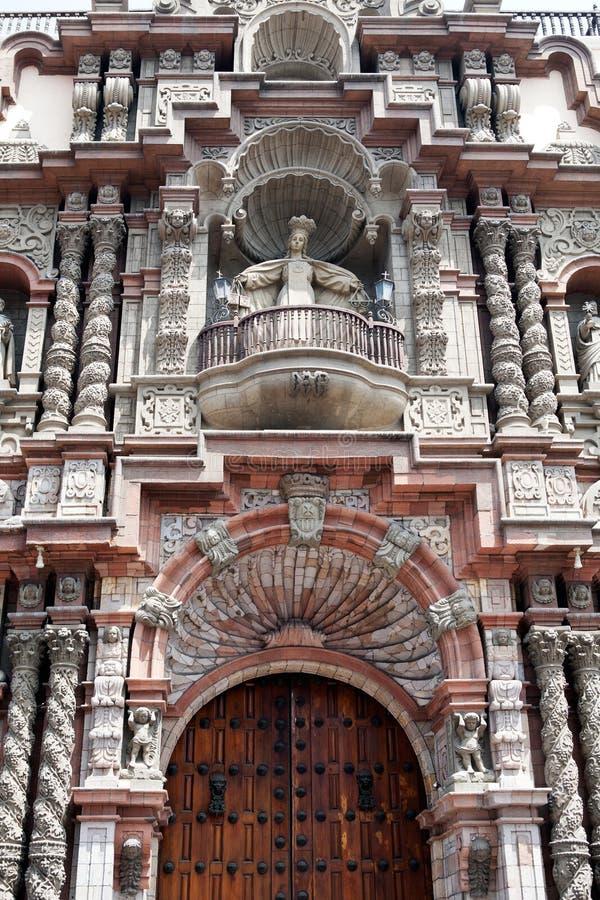 зодчество lima старое Перу стоковая фотография