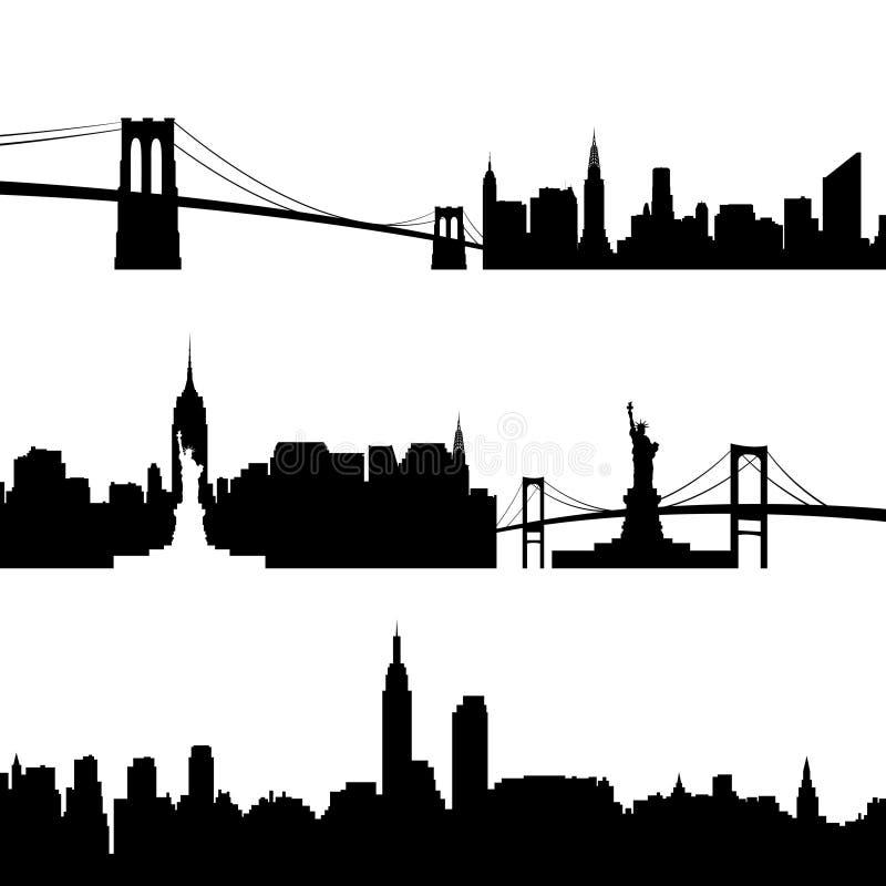 Зодчество New York бесплатная иллюстрация