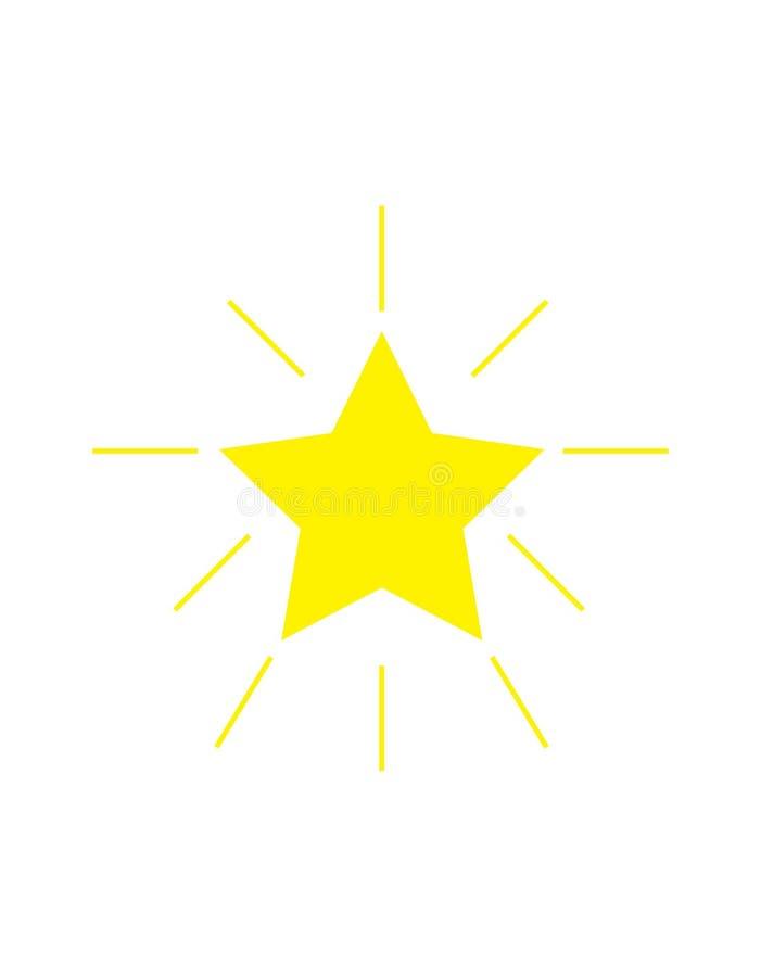 Золотая звезда изолированная на белой предпосылке иллюстрация вектора
