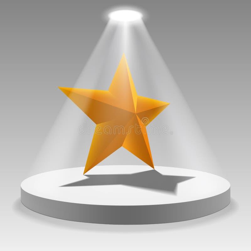 Золотая звезда на загоренном подиуме вектор техника eps конструкции 10 предпосылок бесплатная иллюстрация