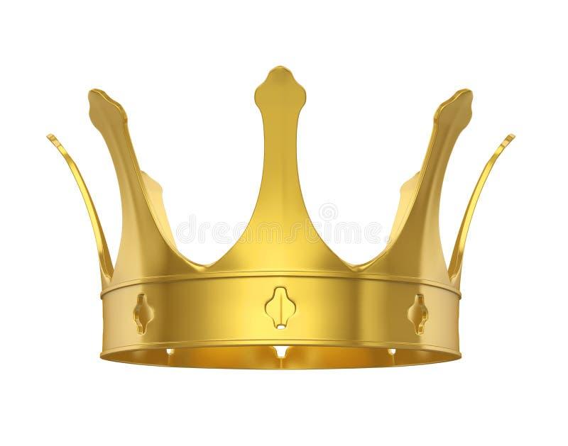 Золотая изолированная крона иллюстрация вектора