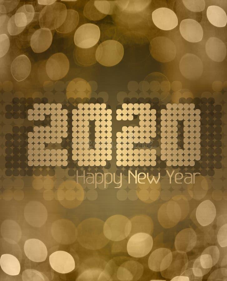 Золотая клитория С Новым Годом 2020 стоковая фотография rf