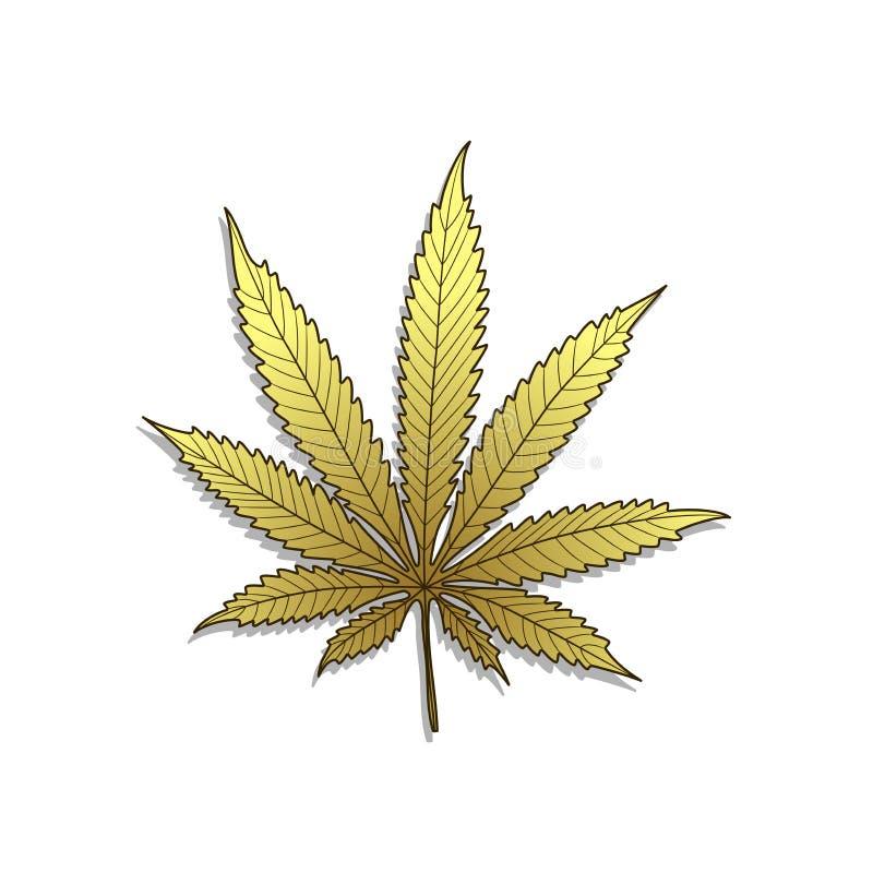 Золотая Конопля-марихуана бесплатная иллюстрация