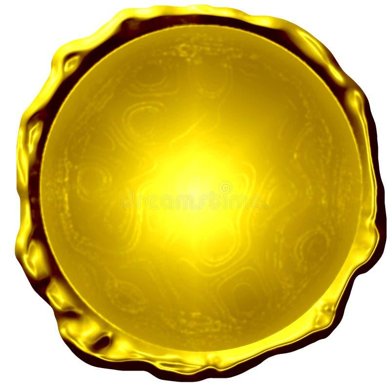 Золотая медаль иллюстрация штока