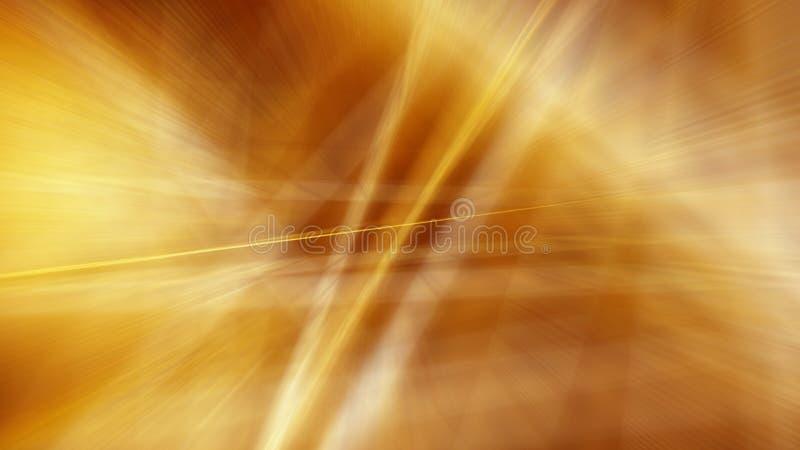 Золотая предпосылка нерезкости движения Иллюстрация растра иллюстрация штока