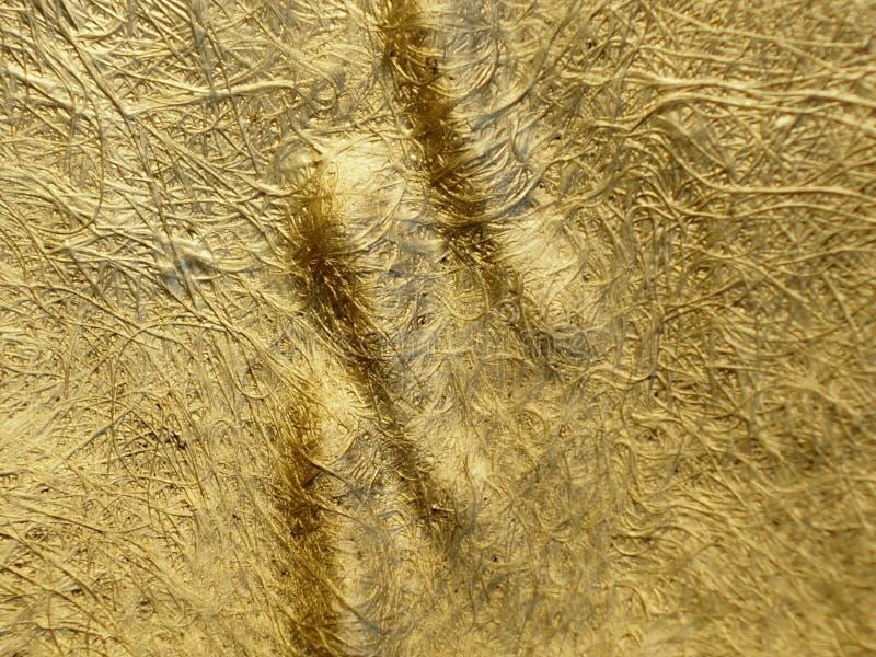 Золотая пятка ковра твердого тела нитей стоковая фотография