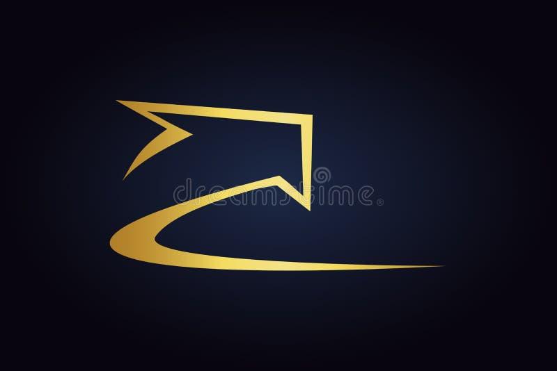 Золотая стрелка водя к верхней части бесплатная иллюстрация