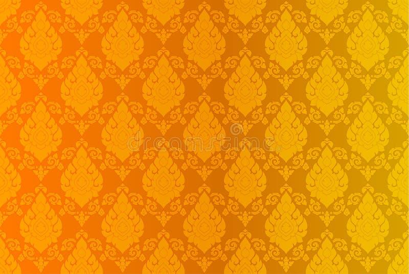Золотая тайская винтажная предпосылка конспекта вектора картины бесплатная иллюстрация