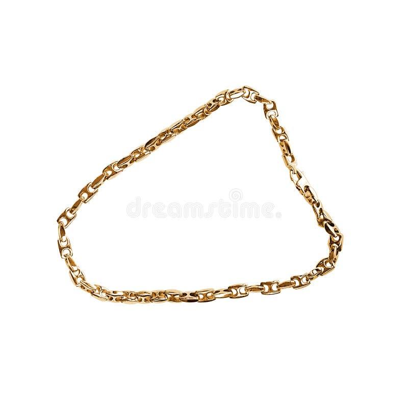 Золотая цепь изолированная на белизне стоковое изображение rf
