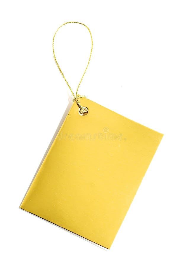 Download золотистая бирка стоковое фото. изображение насчитывающей уговариваний - 6852072