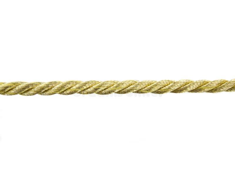 золотистая веревочка стоковые изображения